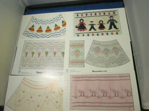 6 Smocking pattern plates - Mollie Jane Taylor