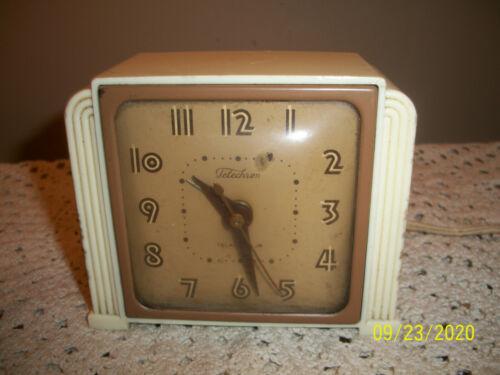 Vintage Telechron 7H435 Art Deco Bakelite? Alarm Clock AS FOUND Working Order