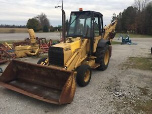 FORD BACKHOE Loader tractor FORD 655C 2x4
