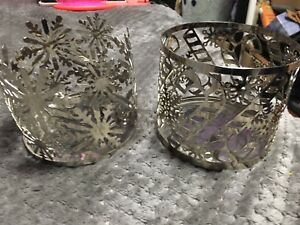 Bath and Body works candle holders.