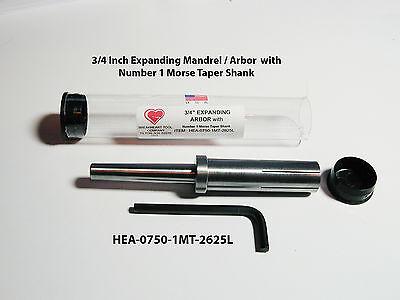 34 X 2-58 Expanding Mandrel Arbor - Number 1 Morse Taper Shank - American