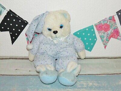 "House of Lloyd Twinkley Slipper Bear 1987 Vintage Plush Regina Blue Teddy 16"""