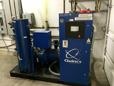 Quincy Qsi-335i 75 Hp Air Compressor Liquid Cooled Has Cooling Tower Dryer