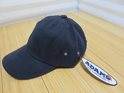 Adams 6-Panel Low-Profile Ultra Heavyweight Brushed Twill Cap CT102 Navy Khaki Adams, 6 Panel