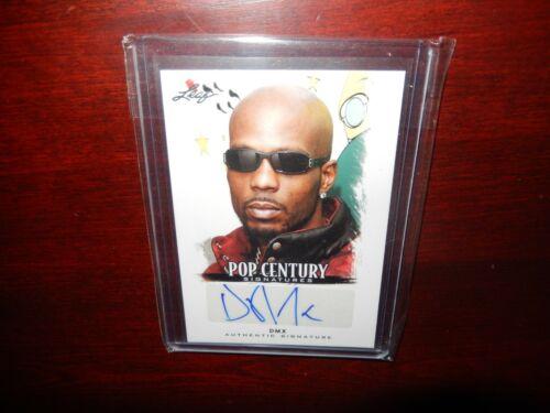 DMX Autograph 2012 Leaf Pop Century Signatures SUPER RARE Near Mint Rap Legend