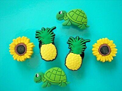 Clog Shoe Charms Button For Jibbitz Croc Accessories WristBand Turtle Sun Flower - Turtle Accessories