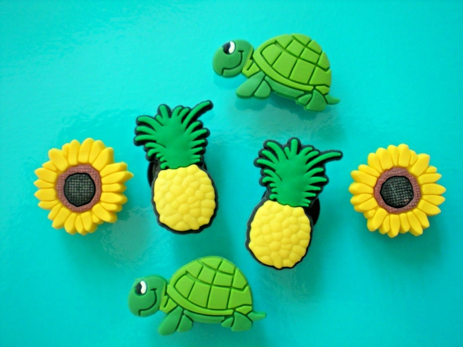 Clog Shoe Charm Plug Button Fitbit Wristband Belt Jibbit Accessories 2 Pineapple