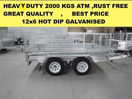 12x6 TANDEM HOT DIP GALVANISED TRAILER