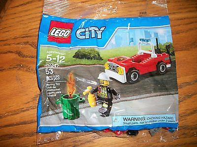 NEW Lego City Fire Car 30347 Building Toy Set Polybag