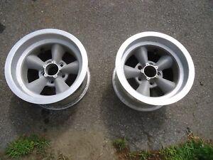 2 Vintage 15x8.5 American Racing Torque Thrust Style 5 Spoke Racing Wheels