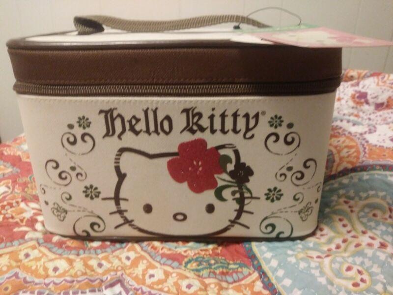 NWT Sanrio Hello Kitty Travel Toiletries Storage Train Case