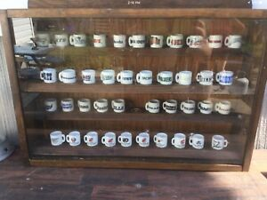 NFL, MLB, NHL Mini Cups and shelves