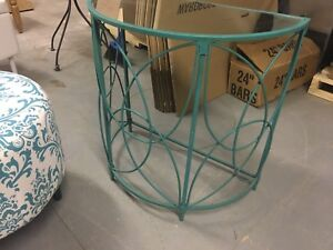 Teal Stand w. Mirror top