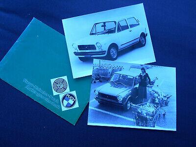 Steyr Daimler Puch : Autobianchi A 112 : 2 Pressefotos in Originalkuvert
