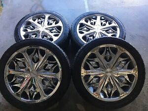 MAGS 17' 5X100 & 5X120 + SUMMER TIRES 9/32 . 650$