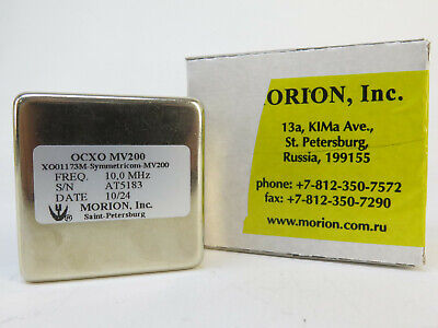 Morion Symetricom Ocxo Mv200 10mhz Sinewave Crystal Oscillator Xo01173m