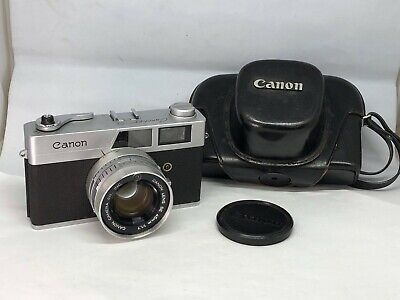 【As-is】Canon Canonet S Rangefinder Camera 45mm f1.7 from JAPAN