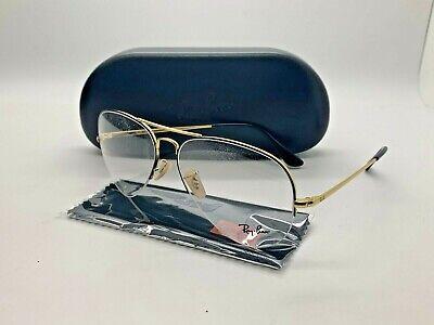 New Authentic Ray-Ban RX6589 2946 GOLD HALF RIMLESS  Eyeglasses 59mm (Ray Ban Rimless Prescription Glasses)