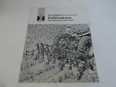 1961 Ih Mccormick Rear-mounted Cultivators Fast-hitch 3-point Hitch Brochure