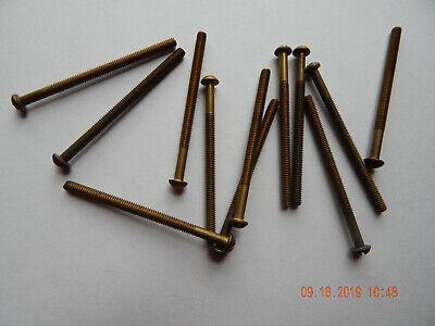 Brass Round Head Slotted Machine Screws 832 X 2 12 12 Pcs. New-nos