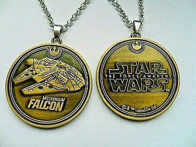 Stunning Star Wars MILLENIUM FALCON Bronze Necklace