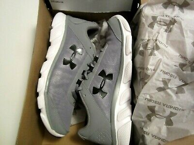 Under Armour Mens Size 8 UA Micro G Assert 7 Running Shoe 3020673-100 Gray