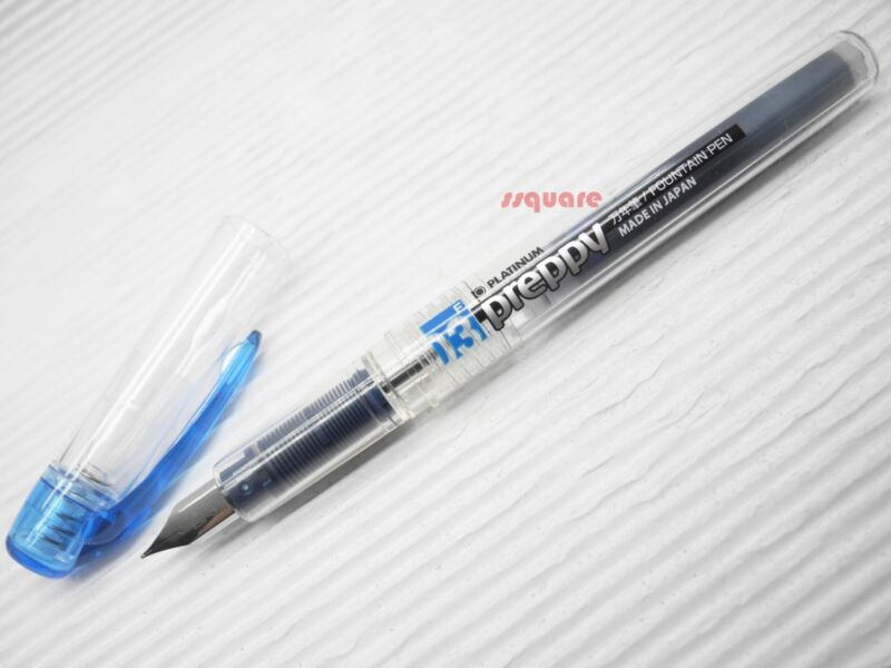 Platinum Preppy PPQ-200 0.3mm Fine Refillable Fountain Pen, Blue-Black