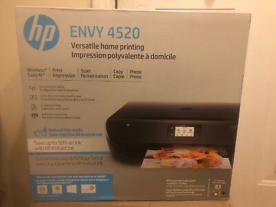 New Sealed HP Envy 4520 Wireless All-in-one Printer Print Scan...