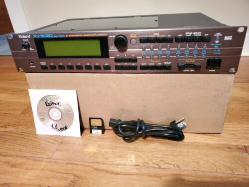 ROLAND XV-5080 W/128MB RAM + 64MB CARD W/COMMERCIAL LIBRARY + DVD-R W/EDITOR