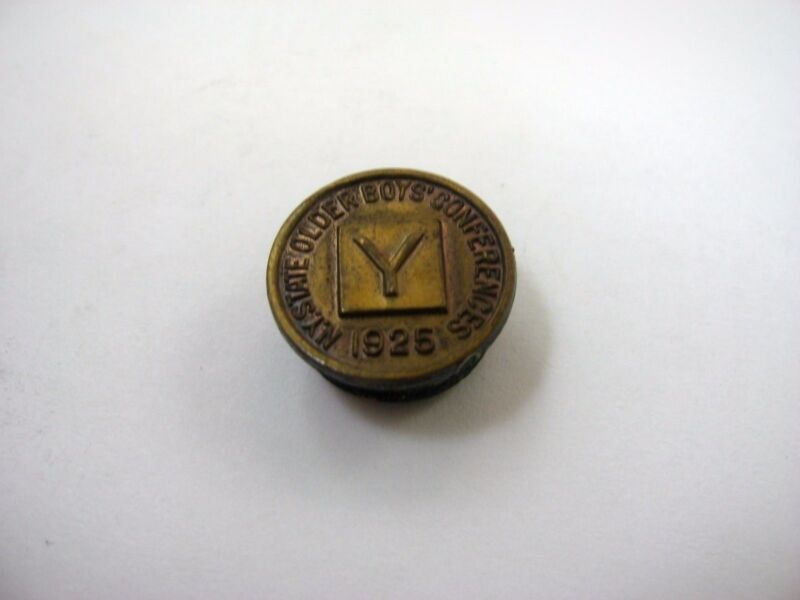 Rare Vintage Collectible Pin: NY State Older Boys Conferences 1925 YMCA
