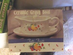Large Ceramic Gravy Boat - Like New