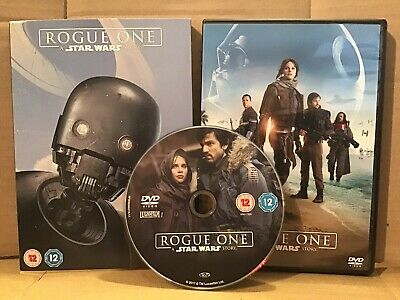 Rogue One: A Star Wars Story 2016 DVD Excellent Condition with Slipcase