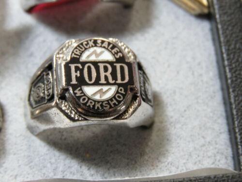 Ford Truck Sales Workshop Award Ring Sterling 1957-1960