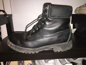 Timberland 6 Inch Premium Boot - Black Smooth Leather sz 10