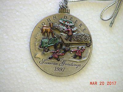 John Deere 1997 Painted Pewter Ornament
