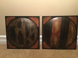 2 Metal Decorative Art pieces