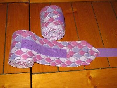 NEW set of 2 purple mermaid scale polo wraps (horse/pony leg wraps)