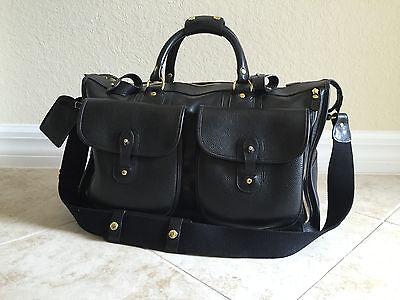 PRICE DROP!! 2013 GHURKA No. 2 Express Vintage Black Leather Carry-on Duffel Bag