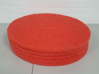 5x Red 24 Buffing Floor Pads Commercial Machine Scrubber Cleaning