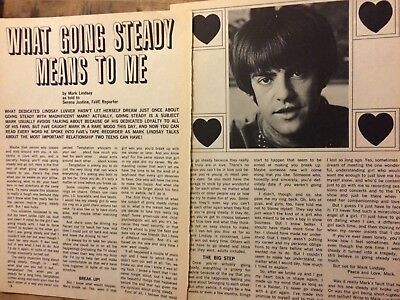 Mark Lindsay, Paul Revere and the Raiders, Two Page Vintage Clipping