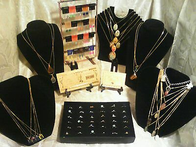 OVER 70+Pc.MIXED~LOT! GOLD$100+RINGS/EARRINGS/GEMSTONES&CAB Necklaces & MORE!