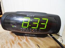 Sony ICF-C490 Digital Alarm Clock AM/FM Radio TESTED