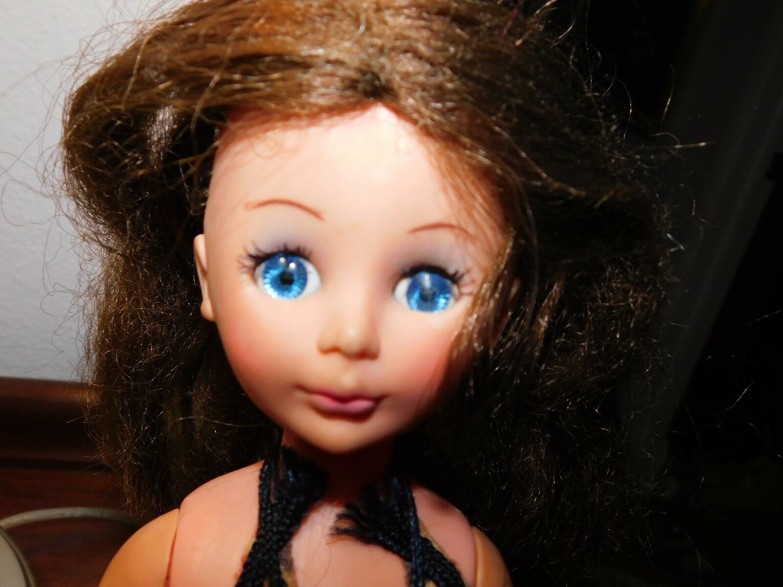 Vintage 1972 Uneeda 14 Brunette Clover Doll Sleep Eyes Hong Kong - $61.75