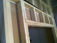 Basement & partition wall & FRAMING. Basement frost walls frami