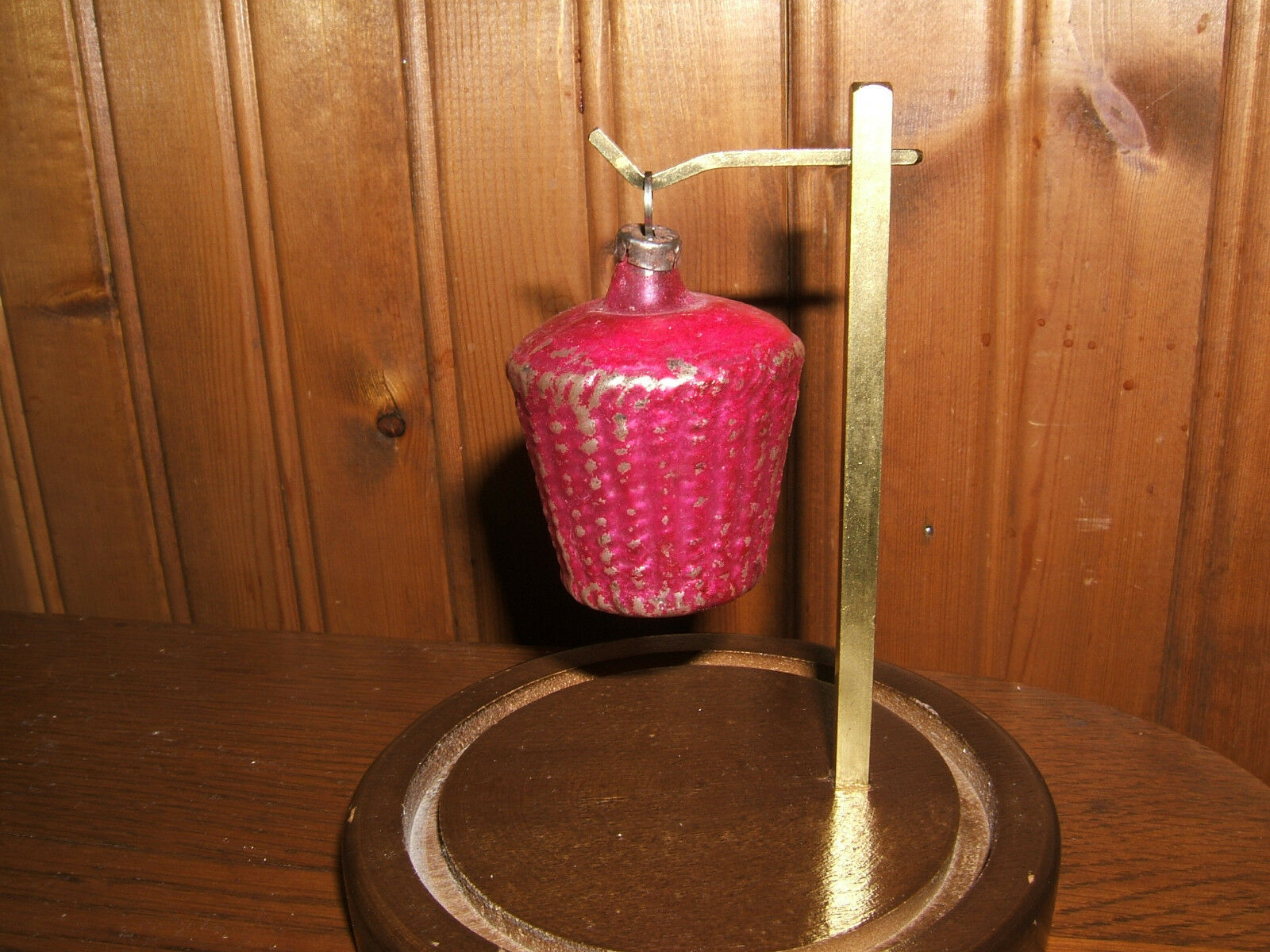 Basket Weaving Ornaments : Antique pink basket weave glass tree christmas ornament