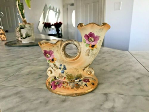 Vintage 1940s ABINGDON USA Double Candle Holder 4.5H