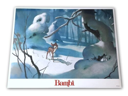 """Bambi"" Original 11x14 Authentic Lobby Card Poster Photo 1982 Walt Disney #12"