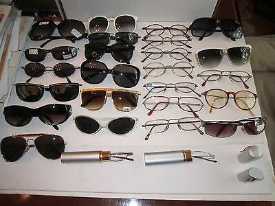 LARGE LOT OF 26 VINTAGE SUNGLASSES & EYE GLASSES - SEE PICS -