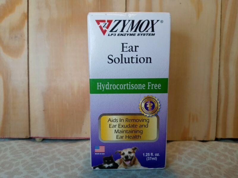 ZYMOX Pet Ear Solution Hydrocortisone Free 1.25oz Exp: 07/2022