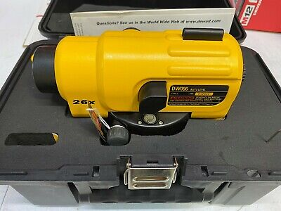 Dewalt Dw096 26x Auto Level 300 Ft Range - Very Good